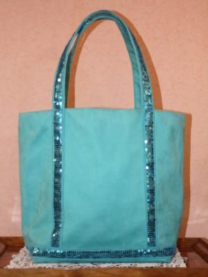 sac cabas turquoise style vanessa bruno