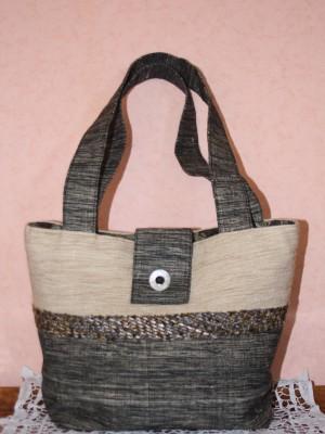 sac en tissu façon Chanel