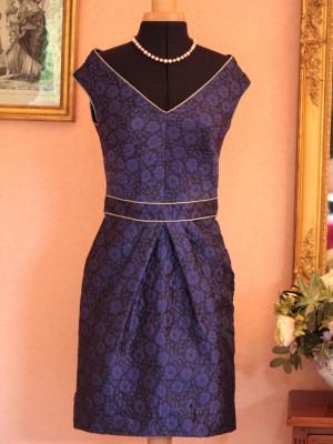 robe de soirée en broché de soie